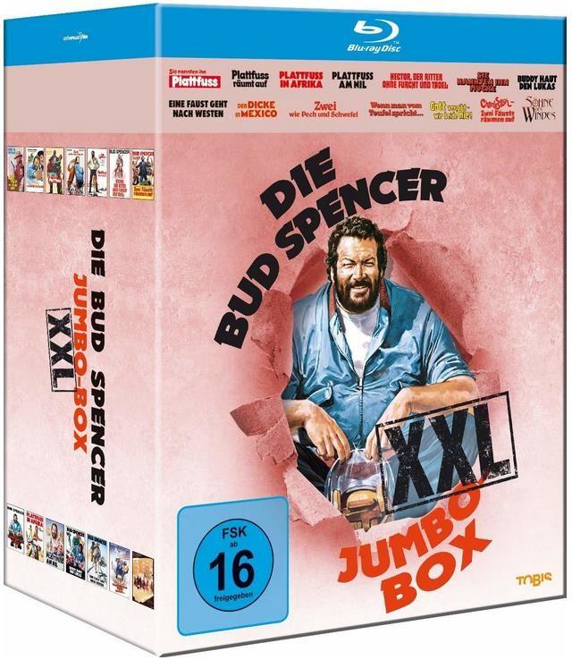 Bud Spencer Jumbo Blu Ray Box XXL für 39,97€ (statt 60€) oder Plattfuss Box für 14,97€ (statt 24€)