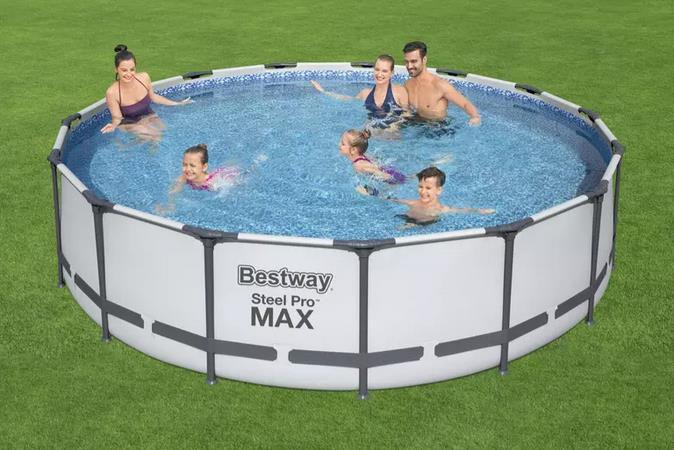 Bestway Schwimmbecken Steel Pro Max Set   457x107cm für 259,59€ (statt 376€)