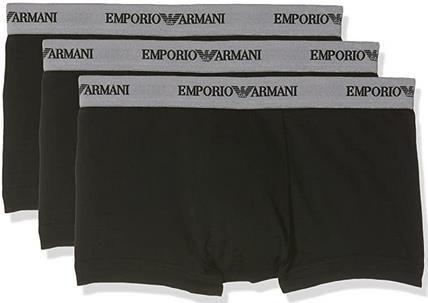 Emporio Armani   Herren Retroshorts in Weiß oder Schwarz im 3er Pack für 19,99€ (statt 36€)