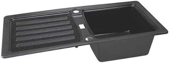 Eurodomo Prima 45   Einbauspüle 860 x 435 mm in graphit für 95,94€ (statt 142€)