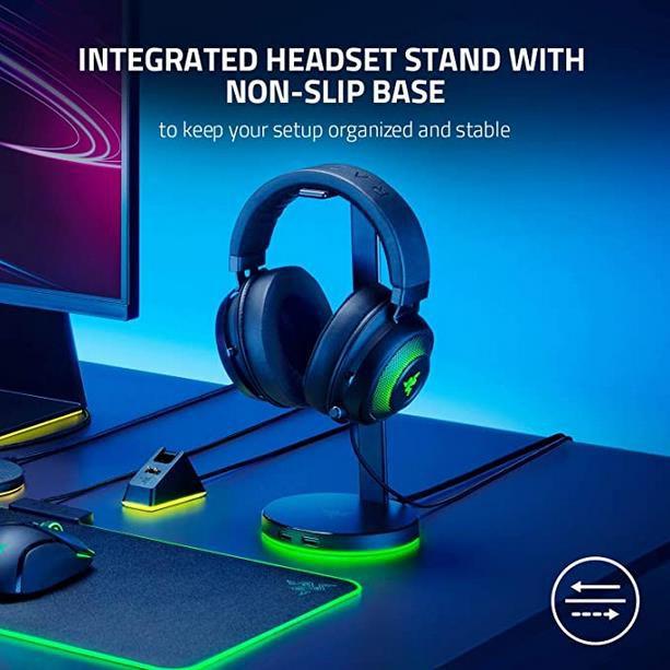 Razer Base Station V2 Chroma Gaming Headset Stand mit USB Hub in weiß für 53,50€ (statt 68€)