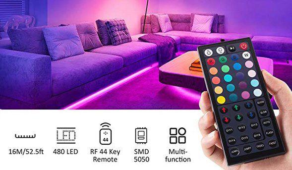 2x 6m Novostella RGB LED Steifen mit Fernbedienung für 14,99€ (statt 30€)
