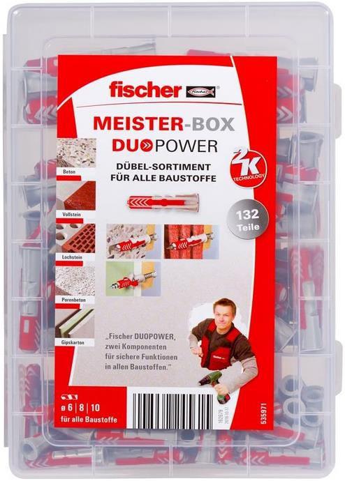Fischer Meister Box Duopower   Dübelbox mit 132 Dübeln für 10€ (statt 15€)