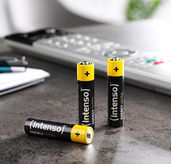 Intenso 7501510 Energy Ultra AAA Micro LR03 Alkaline Batterien im 40er Pack für 4,99€ (statt 8€)