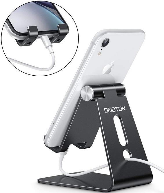 Omoton   Verstellbarer Handy Ständer aus Aluminium für 8,99€ (statt 18€)