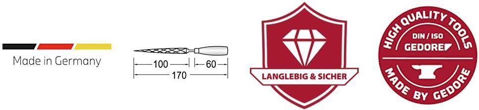 Gedore Red Schlüsselfeilensatz   Set für Metall   6 tlg. für 10,95€ (statt 15€)
