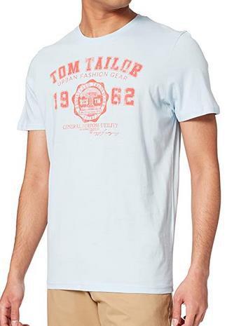 Tom Tailor   T Shirts mit Logodruck in Weiß für 5,99€ (statt 9€)
