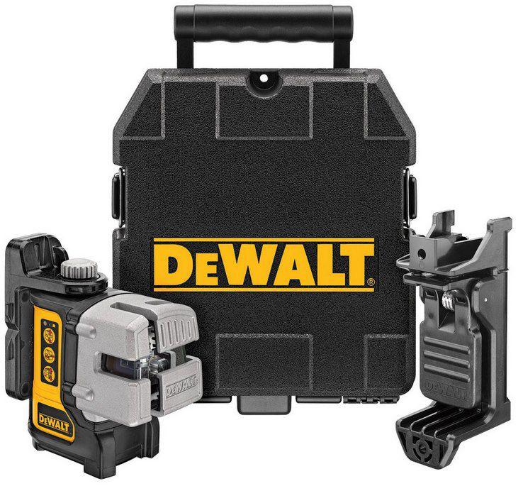 Dewalt DW089K Kreuzlinien Laser (selbstnivellierend, 1x horizontale und 2x vertikale Laserlinien) inkl. Wandhalterung & Koffer für 245,90€ (statt 317€)