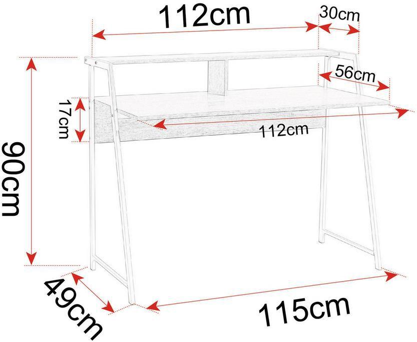 Woltu Schreibtisch TSG20hei aus Holz und Stahl für 45,04€ (statt 59€)