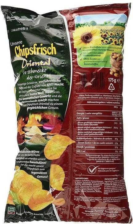 10 x Funny Frisch Oriental Chipsfrisch (je 175g!) für 7,92€ (statt 15€)   Prime Sparabo