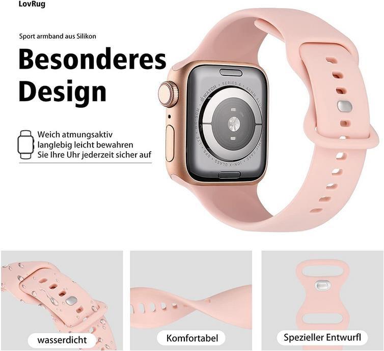 8er Pack: LovRug Silikon Armbander für Apple Watch 38/40/42/44mm ab 5,69€ (statt 19€)   Prime