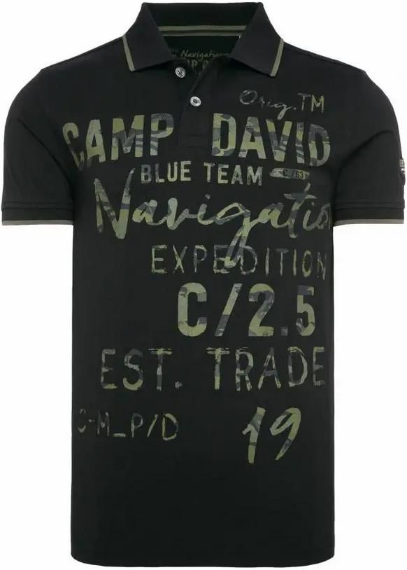 Camp David   Poloshirt mit Photoprint Artwork in zwei Farben für 32,95€ (statt 60€)