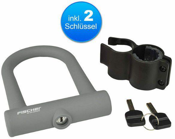 Fischer Bügelschloss Fashion inkl. Halterung & 2 Schlüssel für 12,99€ (statt 17€)