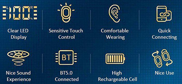 Irfora BT 5.0 TWS InEar Kopfhörer für 10,19€ (statt 17€)   Prime
