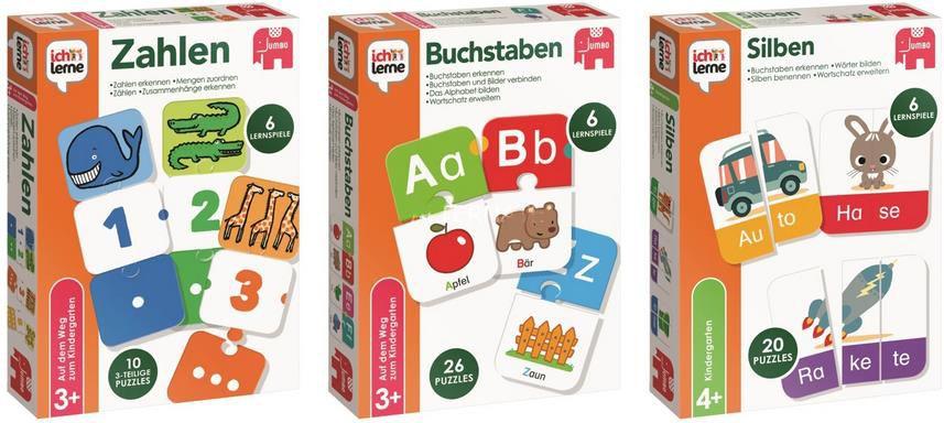 Jumbo   Ich lerne Zahlen, Buchstaben und Silben   Lernspiele für 24,98€ (statt 30€)