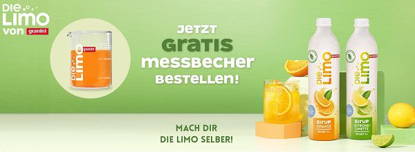 Die Limo Sirup von granini kaufen   Meßbecher gratis abholen