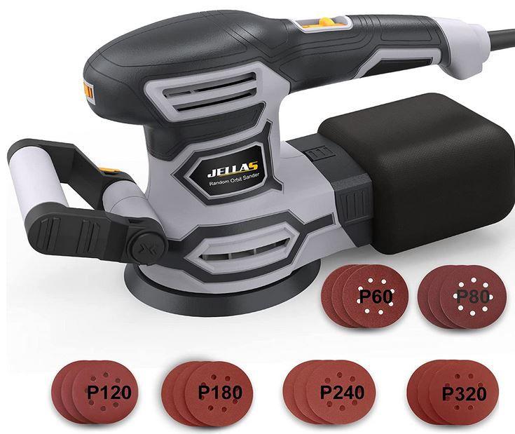 JELLAS Exzenterschleifer 450W mit 125mm für 35,99€ (statt 60€)