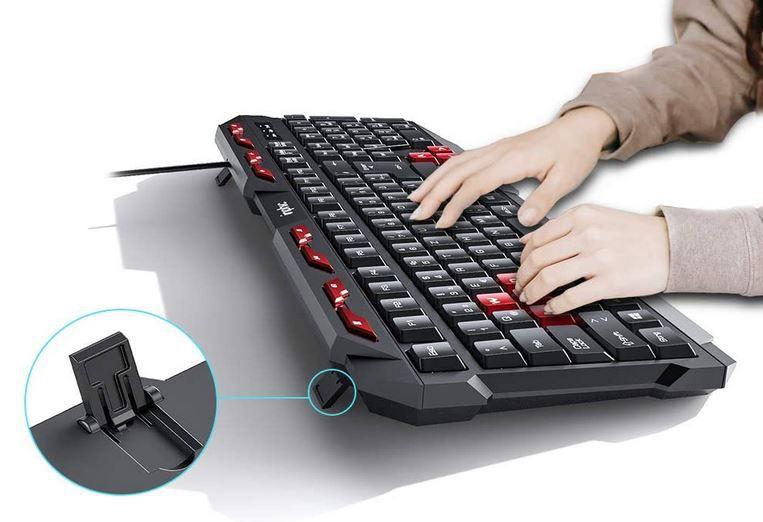 Inphic V610 USB Tastatur 112 Tasten DE Layout für 7,99€ (statt 16€) -prime