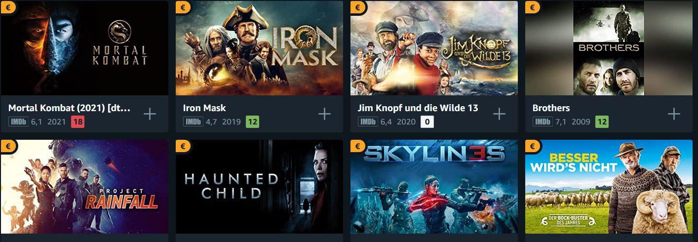 Amazon Prime Video: über 50 Filme für je 0,99€ in HD ausleihen