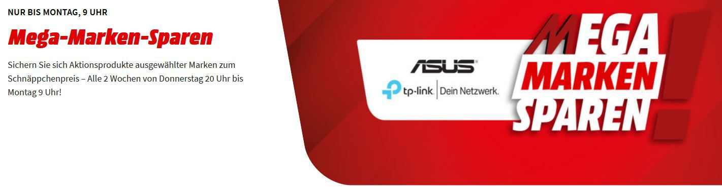 Media Markt Mega Marken Sparen: günstiges von ASUS & TP Link