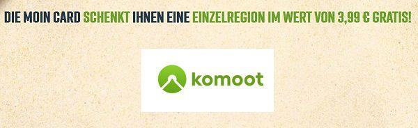 Mit MOIN CARD & komoot eine Einzelregionen gratis (statt ca. 4€)