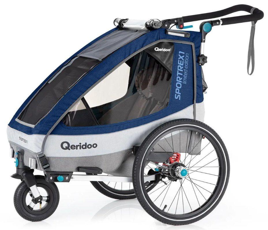 Qeridoo Kinderfahrradanhänger Sportrex 1 (2020) Limited Edition für 329€ (statt 373€)