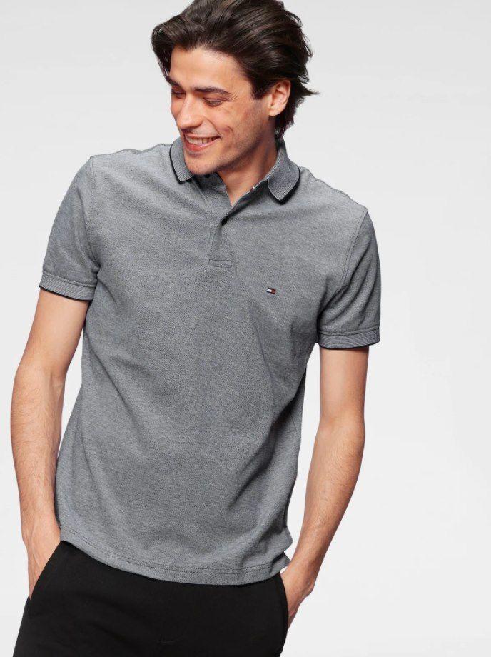 Tommy Hilfiger Herren Poloshirt in Grau für 38,94€ (statt 47€)