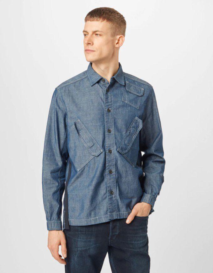 G Star RAW Hemd in blue denim für 43,60€ (statt 55€)