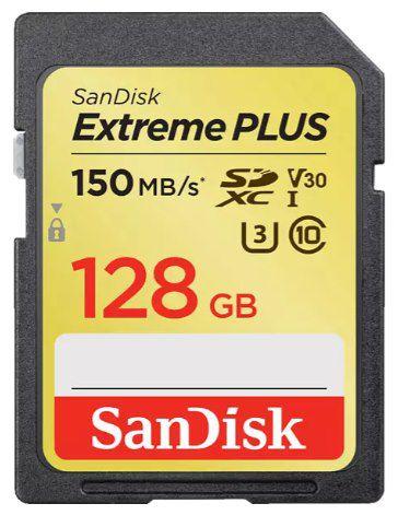 SanDisk Extreme Plus 128GB SDXC Speicherkarte (150 MB/s) für 22€ (statt 38€)