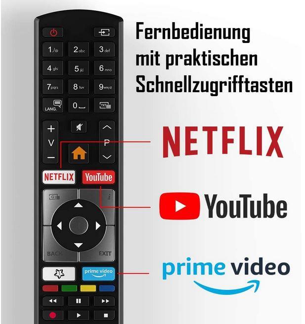 Telefunken D50U551N1CW   50 Zoll UHD HDR Smart TV für 359,99€ (statt 400€)