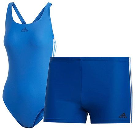 adidas FIT BX 3S Badeshort oder Badeanzug FIT SUIT 3S ab je 8,40€ (statt 17€)