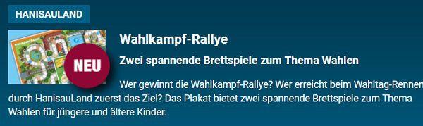 Brettspiele Wahlkampf Rallye gratis anfordern