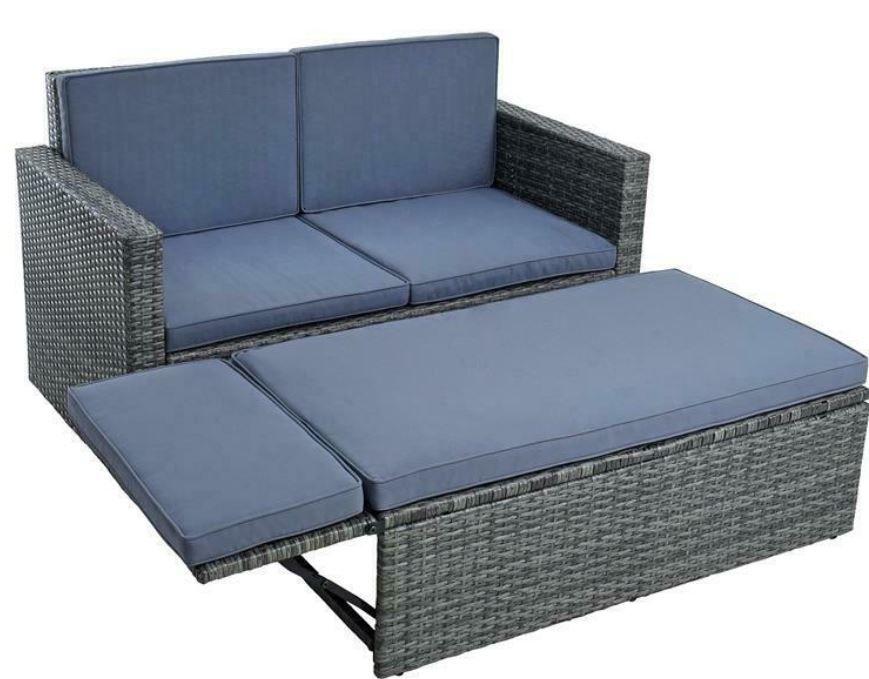 Estexo Polyrattan Lounge Ottomane 3 Farben für je 161,95€ (statt 199€)