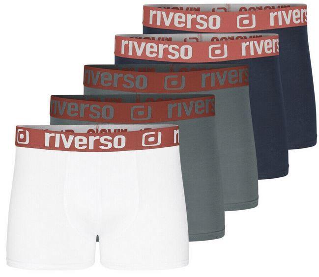 riverso RIVHarry Herren Boxershorts 5er Pack bis 6XL für 22,95€ (statt 29€)