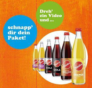 Für selbstgedrehtes Video Sinalco Produktpaket gratis abfassen