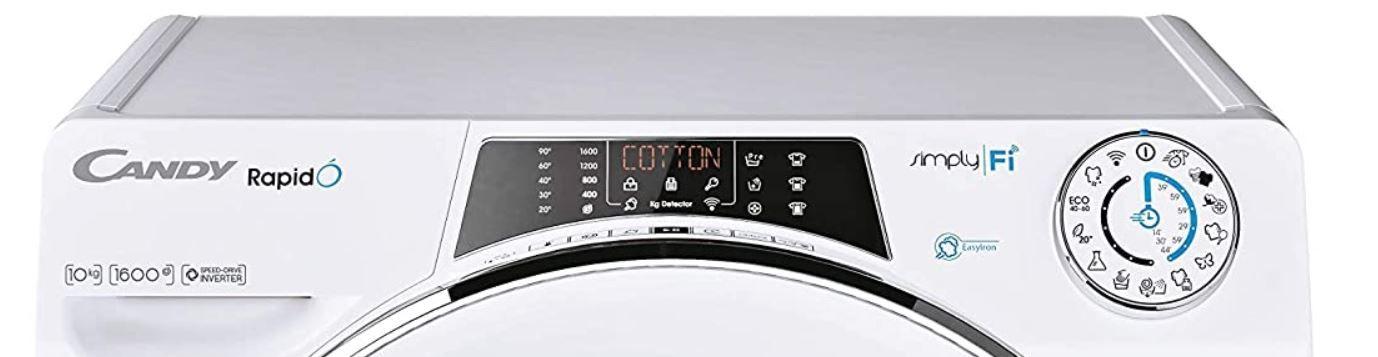 Candy RO16106   10kg Waschmaschine Steam max 1.600U/min für 296€ (statt 379€)