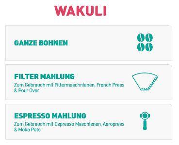 175g Wakuli Kaffee inkl. Versand kostenlos