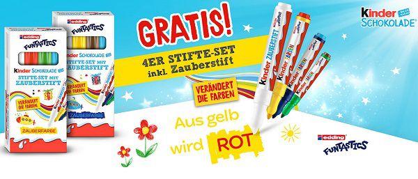Mit Kauf von Kinder Schokolade Stifte Set mit Zauberstift gratis abholen
