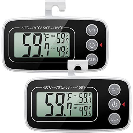2er Pack: ORIA digitales Kühl- und Gefrierschrankthermometer für 6,49€ – Prime