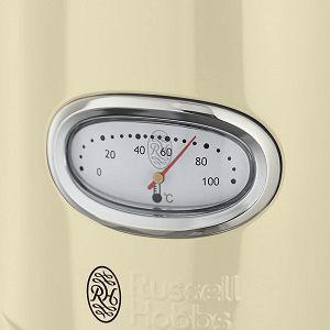 Russell Hobbs Retro Ribbon Wasserkocher (1,7 l, 2400 W) in Retrocreme für 39,99€ (statt 50€)