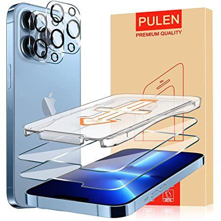 2er Pack PULEN iPhone 13 Panzerglas & Kameraschutz – auch für Pro & Pro Max für je 1,39€ – Prime
