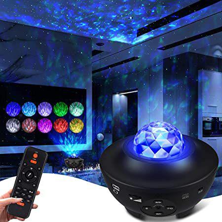 ceshu LED Sternenhimmel-Projektor mit Bluetooth, 3 Stufen & Fernbedienung für 19,99€ (statt 30€)