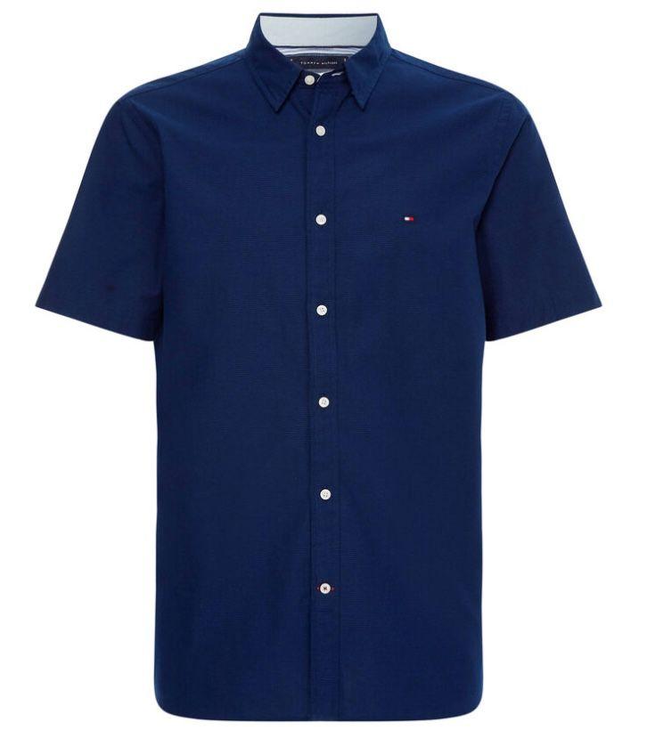 Tommy Hilfiger Herren Hemd Grid Dobby Shirt in Regular Fit für 41,70€ (statt 49€)   nur S, M