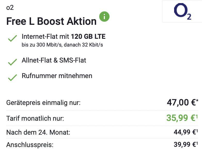 Samsung Galaxy S21 5G mit 128GB für 47€ + o2 Allnet Flat mit 120GB LTE/5G für 35,99€ mtl.