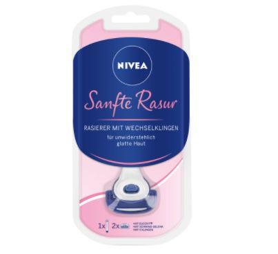 NIVEA Sanftes Damen Rasier Set mit Rasierer, Gel & Klingen für 14,39€