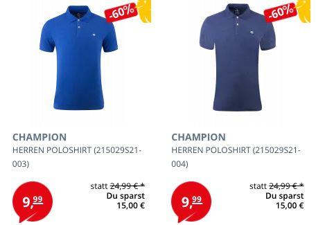 Champion Herren Poloshirts für je 8,99€ zzgl. VSK (statt 20€)