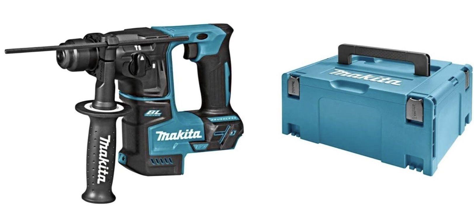 Makita DHR171ZJ SDS Plus bürstenloser Bohrhammer + Makpac Koffer ohne Akku & ohne Ladegerät für 139€ (statt 171€)