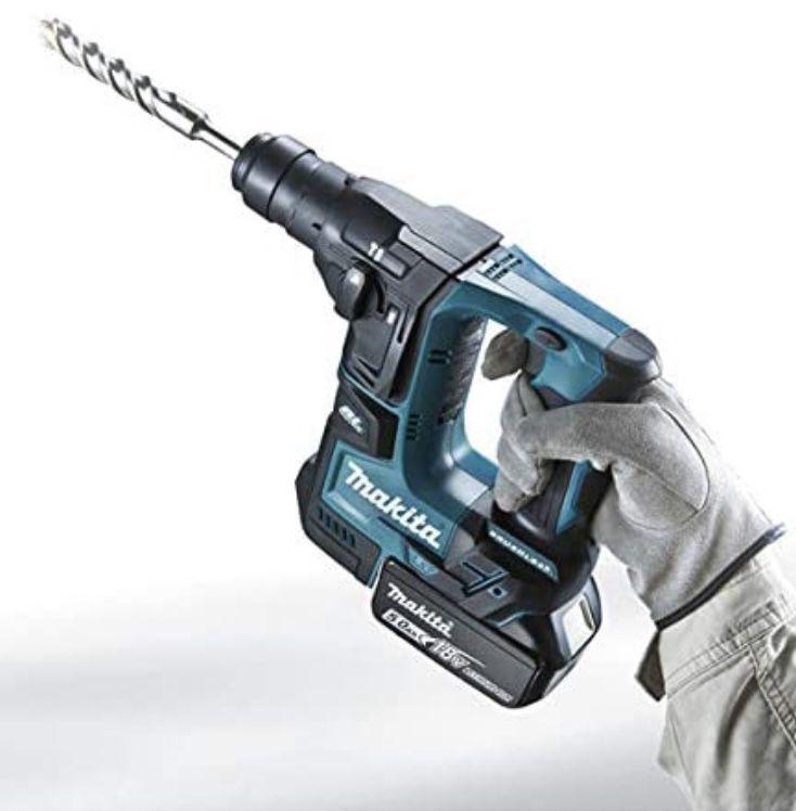 Makita DHR171ZJ SDS Plus bürstenloser Bohrhammer + Makpac Koffer ohne Akku & ohne Ladegerät für 139€ (statt 163€)