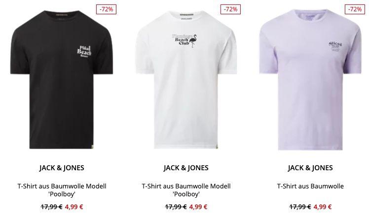Jack & Jones T Shirts für nur 4,99€ inkl. Versand