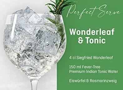 Siegfried Wonderleaf Gin (alkohol  & zuckerfrei) für 14,24€ (statt 22€)